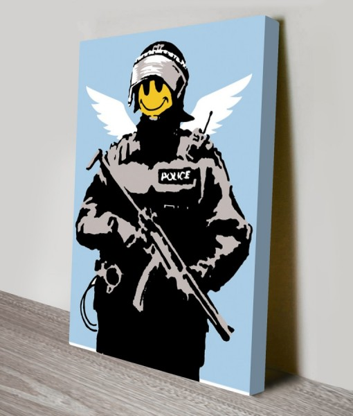 Acid-Soldiers Banksy Art Canvas Print