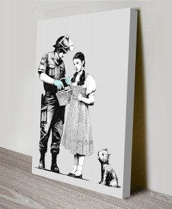BANKSY-DOROTHY-searched-wall-art-canvas print