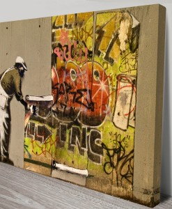 Banksy-Art copy-and-paste-Canvas print