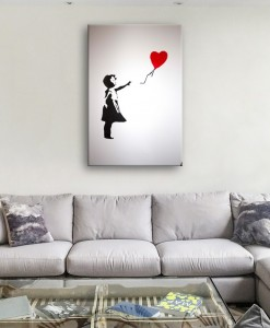 Banksy Balloon Girl canvas wall background