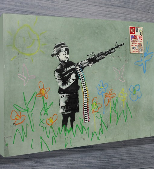 Banksy-Child-soldiers-Canvas