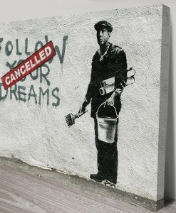 Banksy-Follow-Your-Dreams-art-Canvas Print