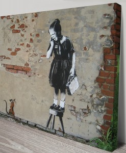 Banksy-Rat-girl-Canvas Print