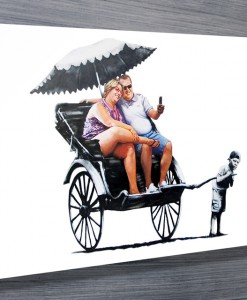 Banksy-Rickshaw-Kid-Canvas-Print-Wall-Art