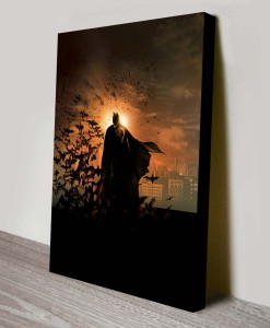 Batman-Begins-Pop Art Canvas Print