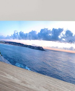 Bondi-Beach-Panorama-Art Canvas Print