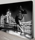 Dance-Of-The-Dolphin-Cityscape Art Canvas Print