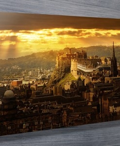 Edinburgh Castle cityscape