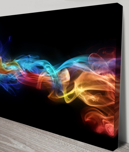 Fire and Ice Abstract Art Canvas Print