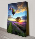 Four-Balloons Landscape Art Canvas Print