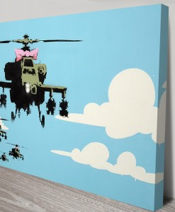 Happy-Copters-Banksy-Canvas-Prints