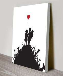 Kids on Guns Hill Banksy Art Cavnas Print