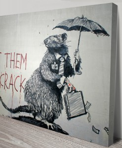 Let Them Eat Crack Banksy Art Canvas Print