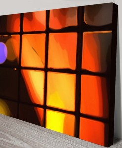 Light-Behind-the-window-Abstract Art Canvas Print