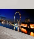 London-Thames-Panorama Cityscape Art Canvas Print