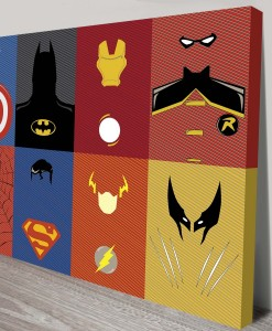 Marvel-DC Wall Art Canvas Print