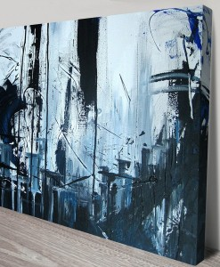 Midnight-City-Abstract Art Canvas Print