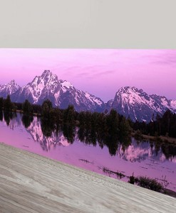 Mountain-dawn-Panorama Art Canvas Print