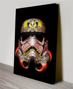 Painted_Stormtrooper_2 Warhol Star Wars Art Canvas Print