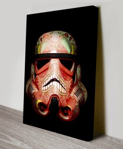 Painted_Stormtrooper_3 Star Wars Art Canvas Print