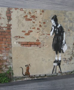 Rat girl banksy art