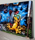 Reptile_Warfare Street Graffiti Art Canvas Print