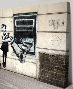 Robot Attacks Girl banksy art