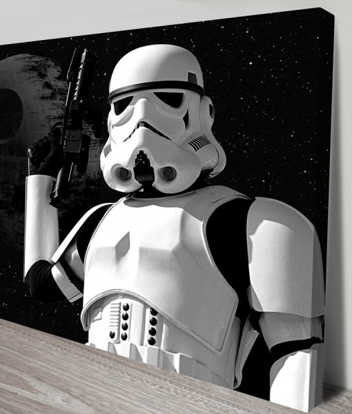 StormTrooper-pop-art Canvas Print