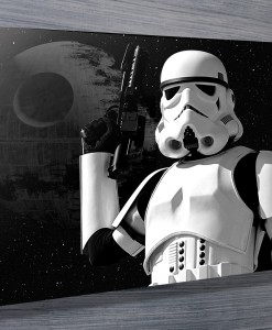 Stormtrooper 01 pop art canvas print