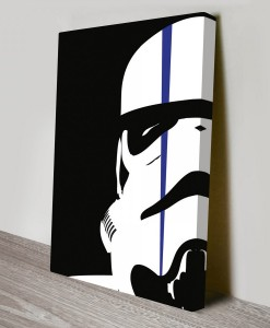 Stormtrooper-with-strike-Pop Art Canvas Print