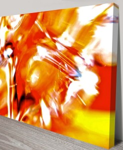Struggle-for-Peace Abstract Art Canvas Print