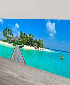 The-Tropical-Island-Panorama-Canvas Print