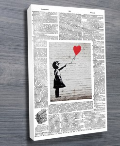 White-Upcycled-Banksy-Art