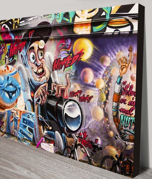 Wicked-Weird-Graffiti-Street Art canvas-print