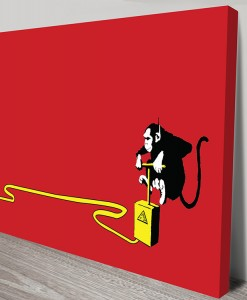 banana-monkey-detonator-Banksy Art Canvas Print