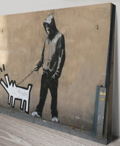 graffiti-banksy-haring-dog-canvas print