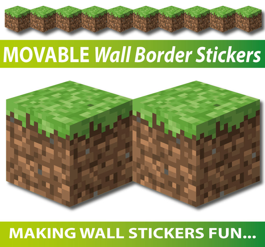 removable minecraft wall border stickers rh avantiwallart com au Minecraft Creeper Minecraft Characters Clip Art