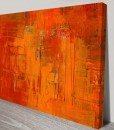 painted-fire-Abstract Art Canvas Print