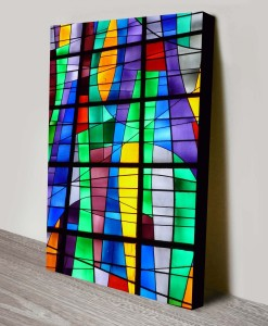 stained_glass_Abstract Art Canvas Print