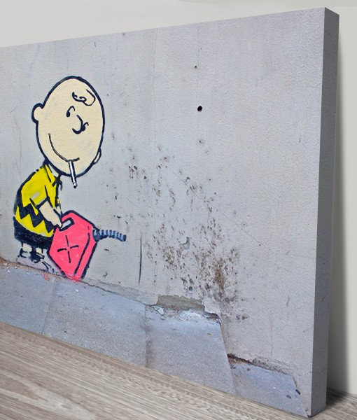 Charlie-Brown-Arsonist-Banksy-Art