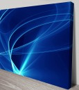 Electric waves Abstract Art Canvas Print