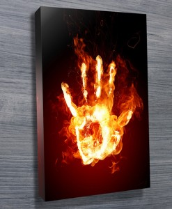 Fire Hand Abstract Wall Art