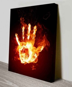 Fire_hand-Abstract Art Canvas Print