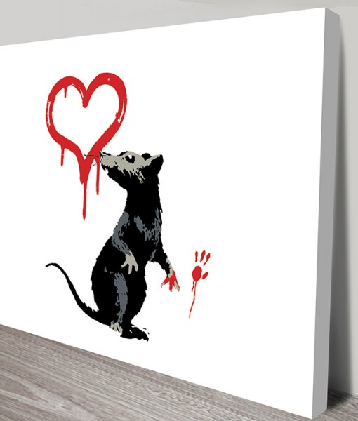 Heart Banksy Rat