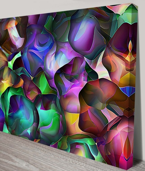 Incapsulated Cells Abstract Art Canvas Print