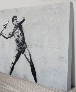 Javelin Thrower Banksy Art