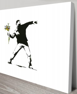 Rage Flower Thrower Banksy Art