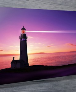 The Lighthouse at Dawn Canvas Print