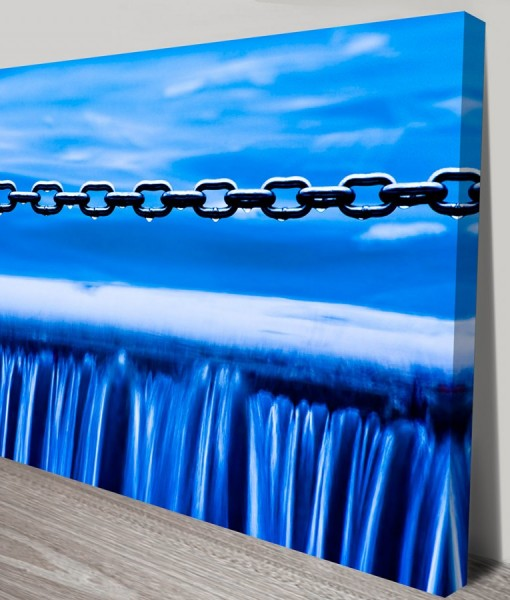 Water_chains Abstract Art Canvas Print