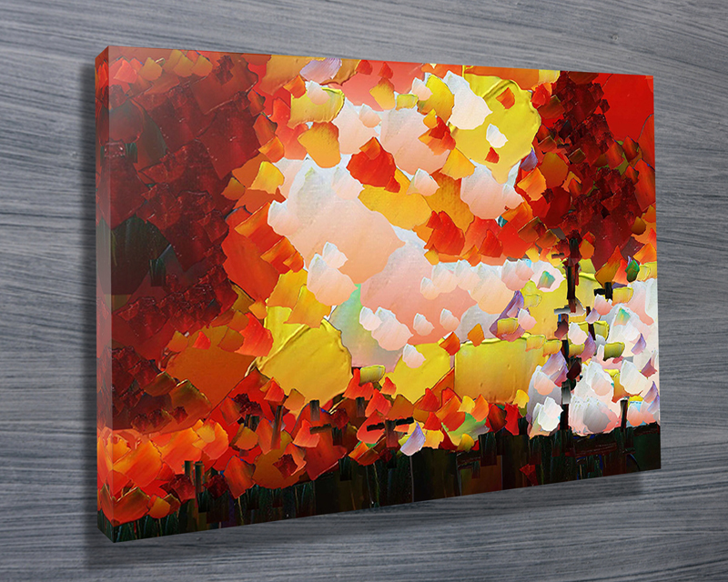 Forest Fire Abstract Wall Art